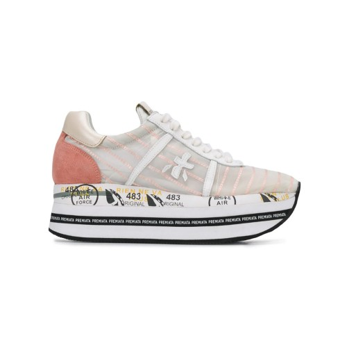 Sneakers Premiata BETH 4626 Color Blanco y Rosa