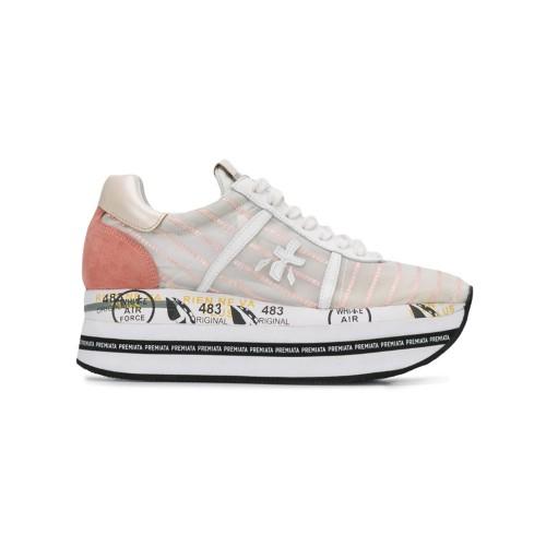 Sneakers Premiata BETH 4626 colore bianco e rosa