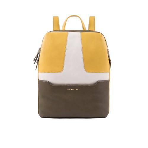 Mochila de Piel Piquadro CA4576S108/G Color Amarillo y...