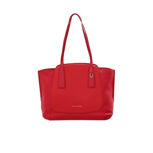 Leather Bag Piquadro BD4958S109/R Color Red