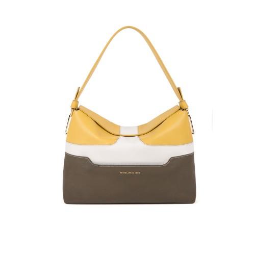 Bolso de Piel Piquadro BD4956S108/G Color Amarillo