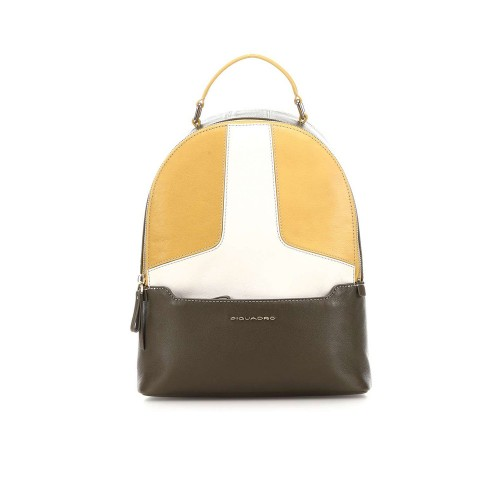 Mochila de Piel Piquadro CA4327S108/G Color Amarillo
