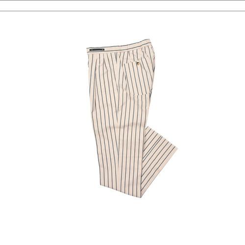 Pantalón PT 01 COHSW5ZL0DAM Color Crudo y Rayas Azules y...