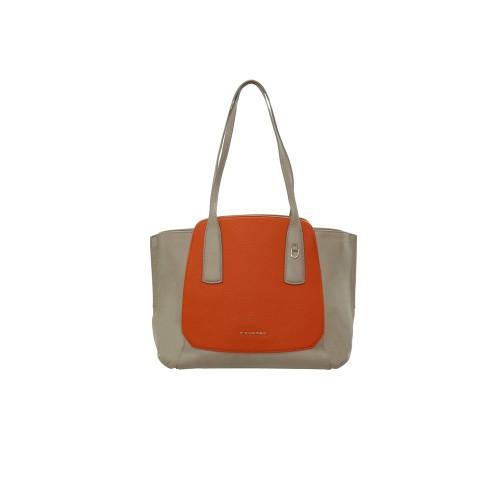 Bolso de Piel Piquadro BD4958S109/Ar Color Gris y Naranja
