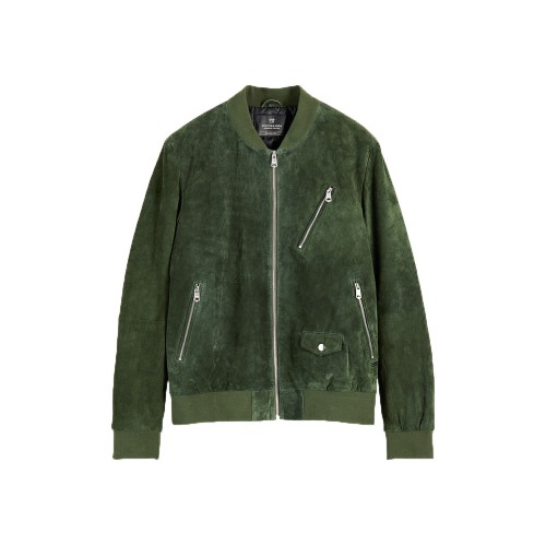 Chaqueta de Ante SCOTCH & SODA 154730 Color verde