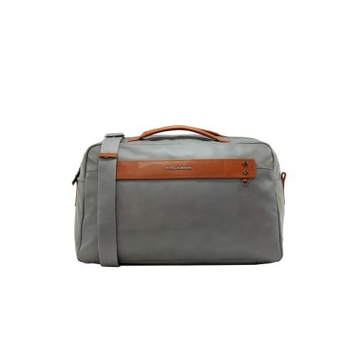 Leather Travel Bag Piquadro BV5033S103 GR Color Gray