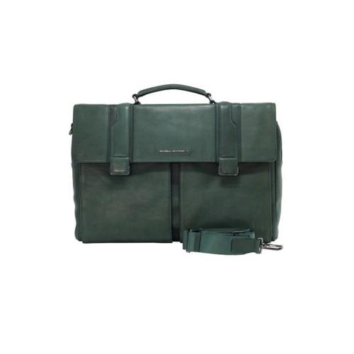 Maletín de Piel Piquadro CA4937S105 VE Color Verde