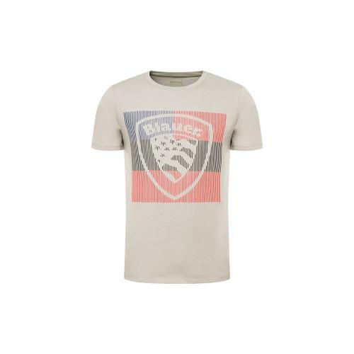 T-Shirt manica corta uomo Blauer 20SBLUH02179 colore grigio