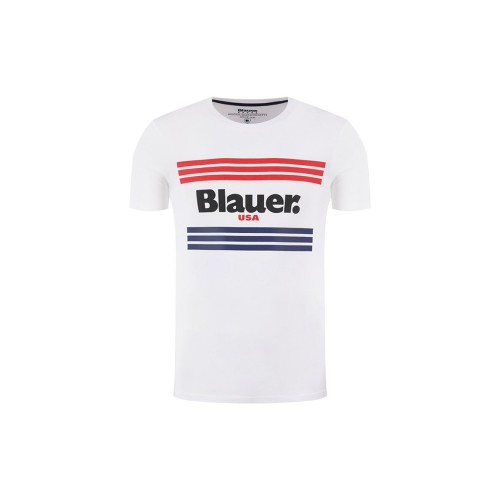 T-Shirt de Manga Corta Blauer 20SBLUH02178 Color Blanco