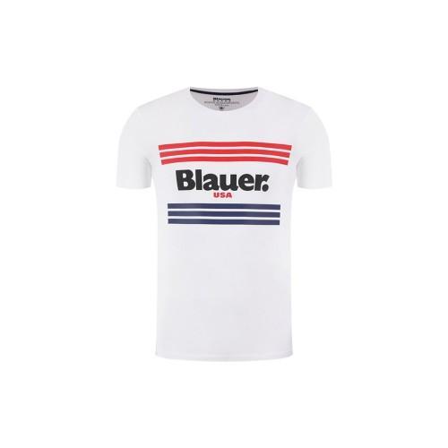 T-Shirt manica corta uomo Blauer 20SBLUH02178 colore bianco