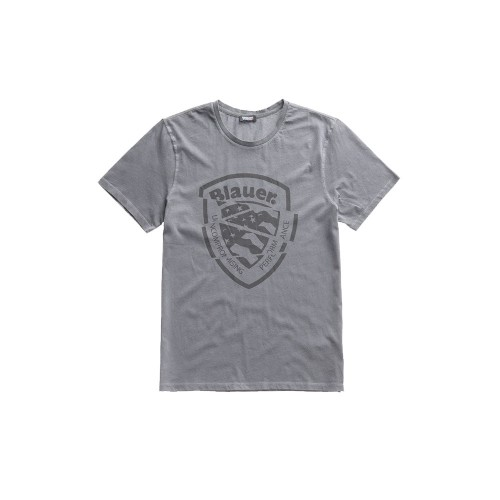 T-Shirt de Manga Corta hombre Blauer 20SBLUH02260 Color Gris