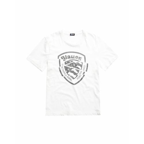 T-Shirt de Manga Corta Blauer 20SBLUH02383 Color Blanco
