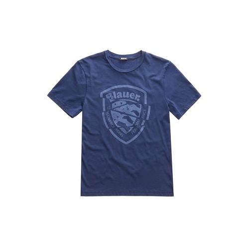 T-Shirt de Manga Corta Blauer 20SBLUH02383 Color Azul