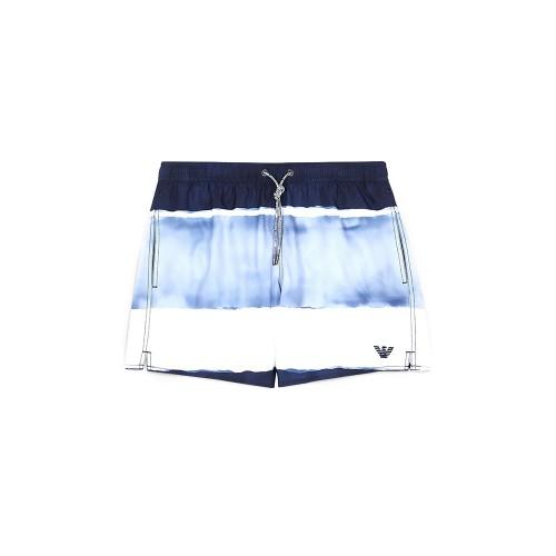 Bañador EA7 Emporio Armani 211740 Color azul y blanco