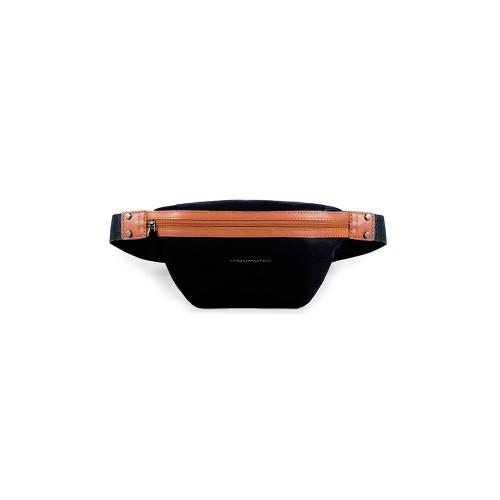 Riñonera de Piel Piquadro CA5036S103 N Color Negro y Cuero