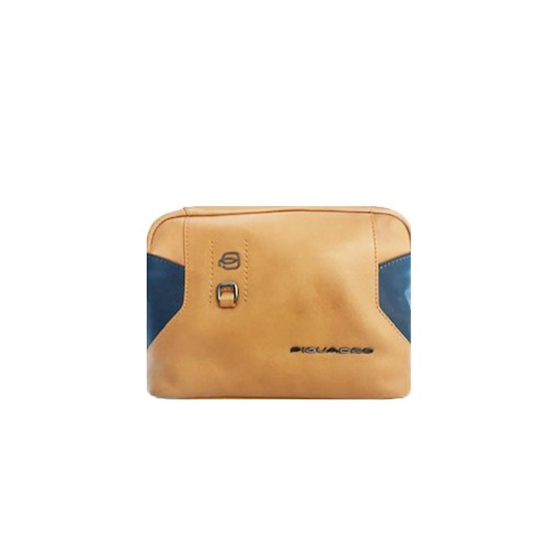 Neceser de piel BY4982S104 CUBL Color Cuero y Azul