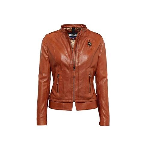 Giacca in pelle stile biker, Blauer, modello SBLDL02517,...
