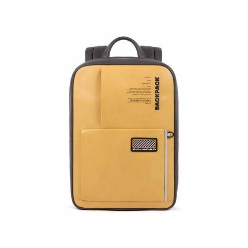Mochila de Piel Piquadro CA5144W106/Color Amarillo