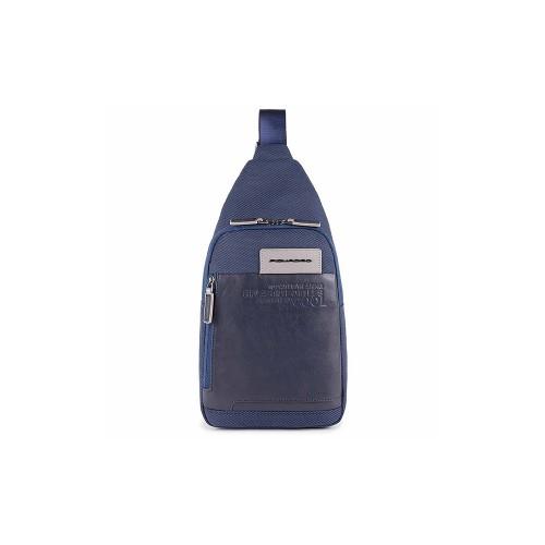 Bandolera Piquadro CA5159W107/BLU Color Azul Marino