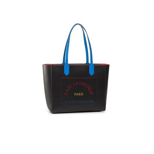 Bolso de Piel Karl Lagerfeld 201W3142 Color Negro Logo...