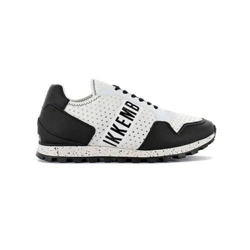 Sneakers de Piel Bikkembergs BKE109306 Color Blanco y Negro
