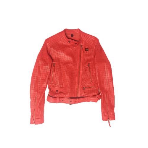 Chaqueta de Piel Blauer 19SBLDL02229 Color Rojo