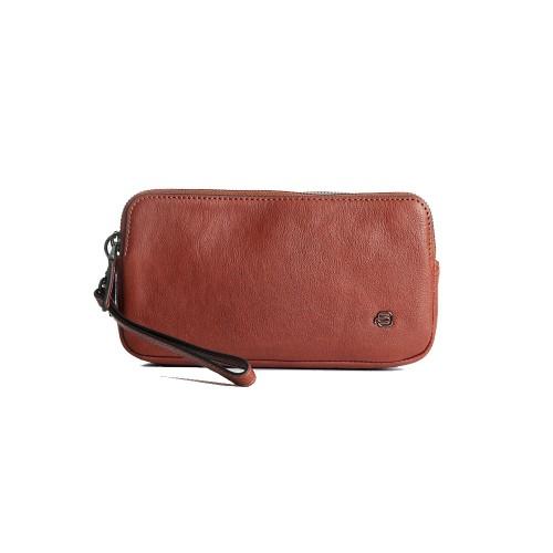 Bolso de Mano de Piel Piquadro AC5187B3R/CU Color Cuero