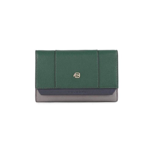 Leather Purse Piquadro PD4152W92R/VE2 Color Green