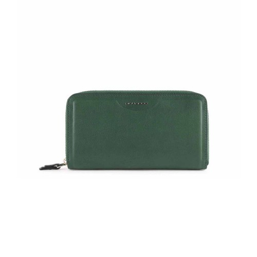 Leather Purse Piquadro PD1515W102R/VE Color Green