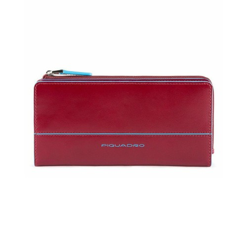 Leather Purse Piquadro PD2396B2R/R Color Red