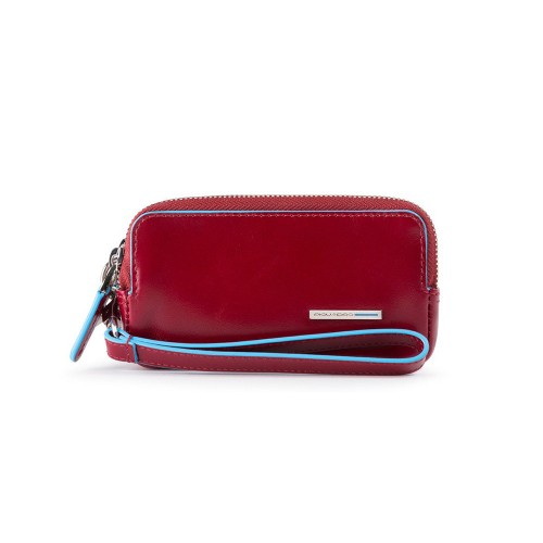 Leather handbag Piquadro AC5201B2/R Color Red