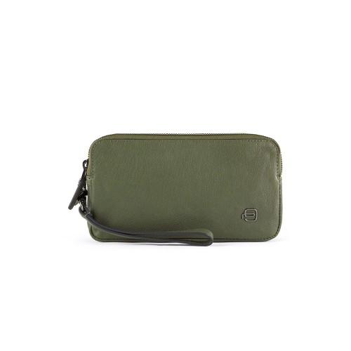 Bolso de Mano de Piel Piquadro AC5186B3/VE Color Verde