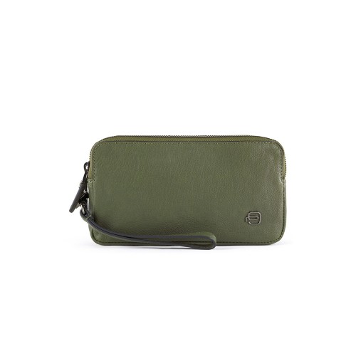 Leather handbag Piquadro AC5186B3/VE Color Green