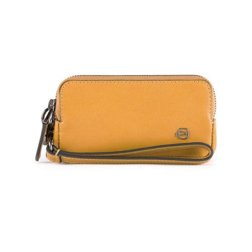 Leather handbag Piquadro AC5201B3/G Color Yellow / Mustard