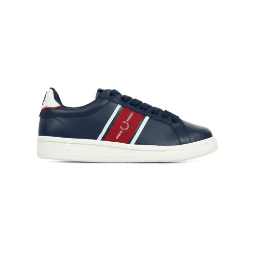 Sneakers de Piel Fred Perry B8301 Color Azul Marino