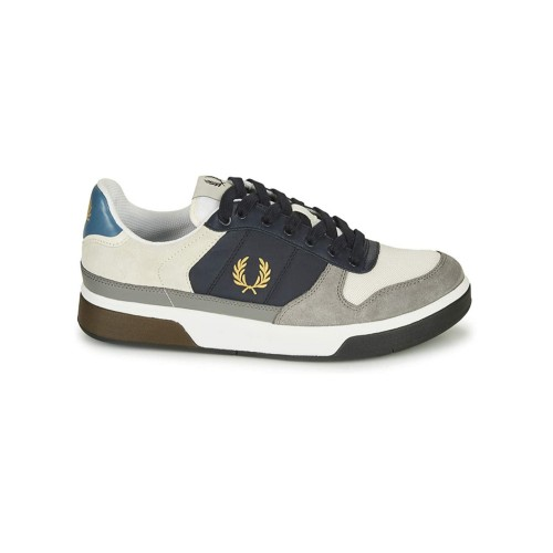 Sneakers de Ante Fred Perry B8294 Color Blanco y Azul Marino