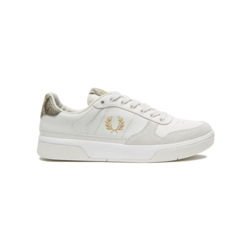 Sneakers de Piel y Ante Fred Perry B8333 Color Crudo...