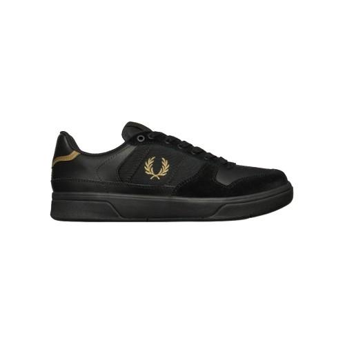 Sneakers de Piel y Ante Fred Perry B8355 Color Negro