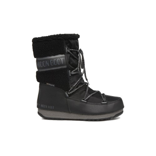 Bota MOON BOOT MONACO WOOL MID WP Color Negro