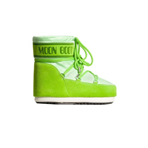 Botín MOON BOOT CLASSIC LOW SATIN Color Verde