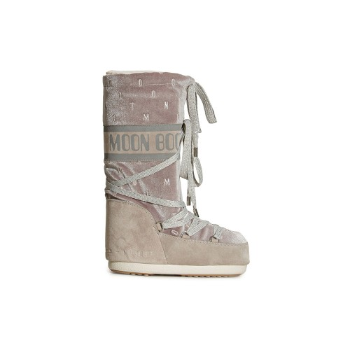 Botas Altas MOON BOOT CHENILLE Color Gris / Taupe