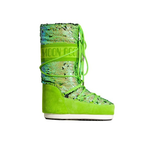 High Boots MOON BOOT CLASSIC DISCO Color Green