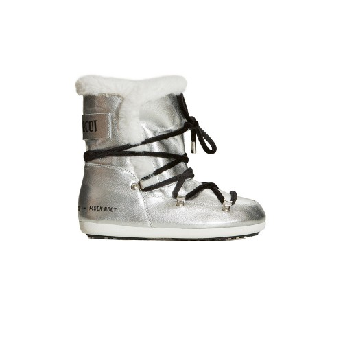 Ankle Boots Moon Boot DK SIDE HIGH SAFFIANO Color Silver...