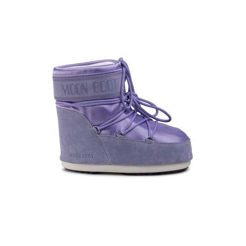 Snow Booty MOON BOOT CLASSIC LOW SATIN Colour Lilac / Crocus