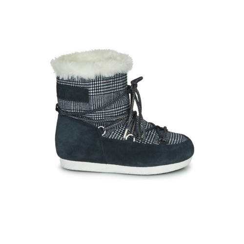 Botín MOON BOOT FAR SIDE LOW FUR / TARTAN Color Check Azul
