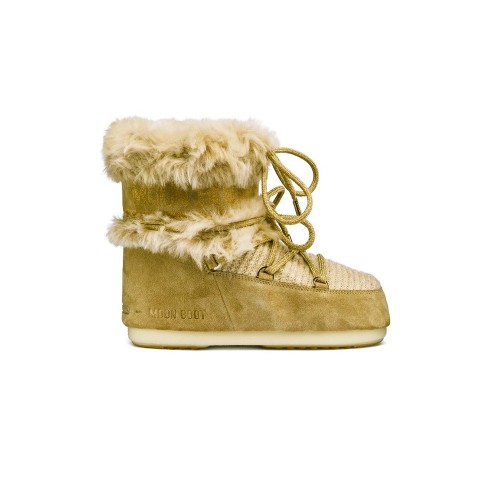 Botín MOON BOOT DK SIDE LOW WOOL FUR Color Beige