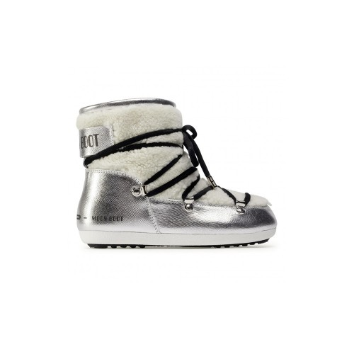 Ankle Boots MOON BOOT DK SIDE LOW SAFFIANO Color Silver /...