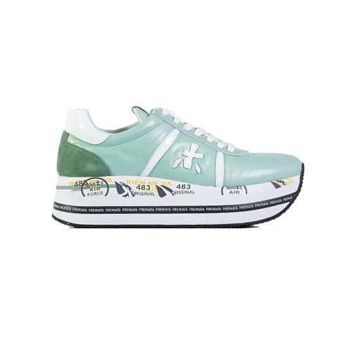 Sneakers de Piel Premiata BETH 4515 Color Verde