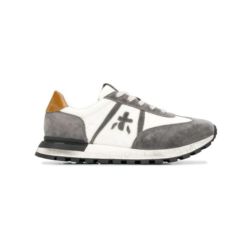 Sneakers Premiata JOHNLOWD 5057 Color Gris y Blanco