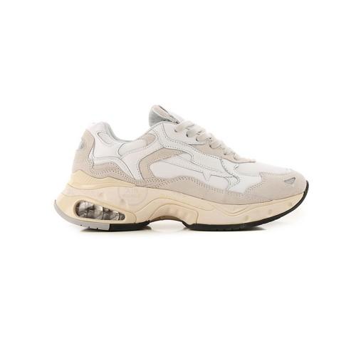 Sneakers di pelle Premiata SHARKYD 0023D colore bianco